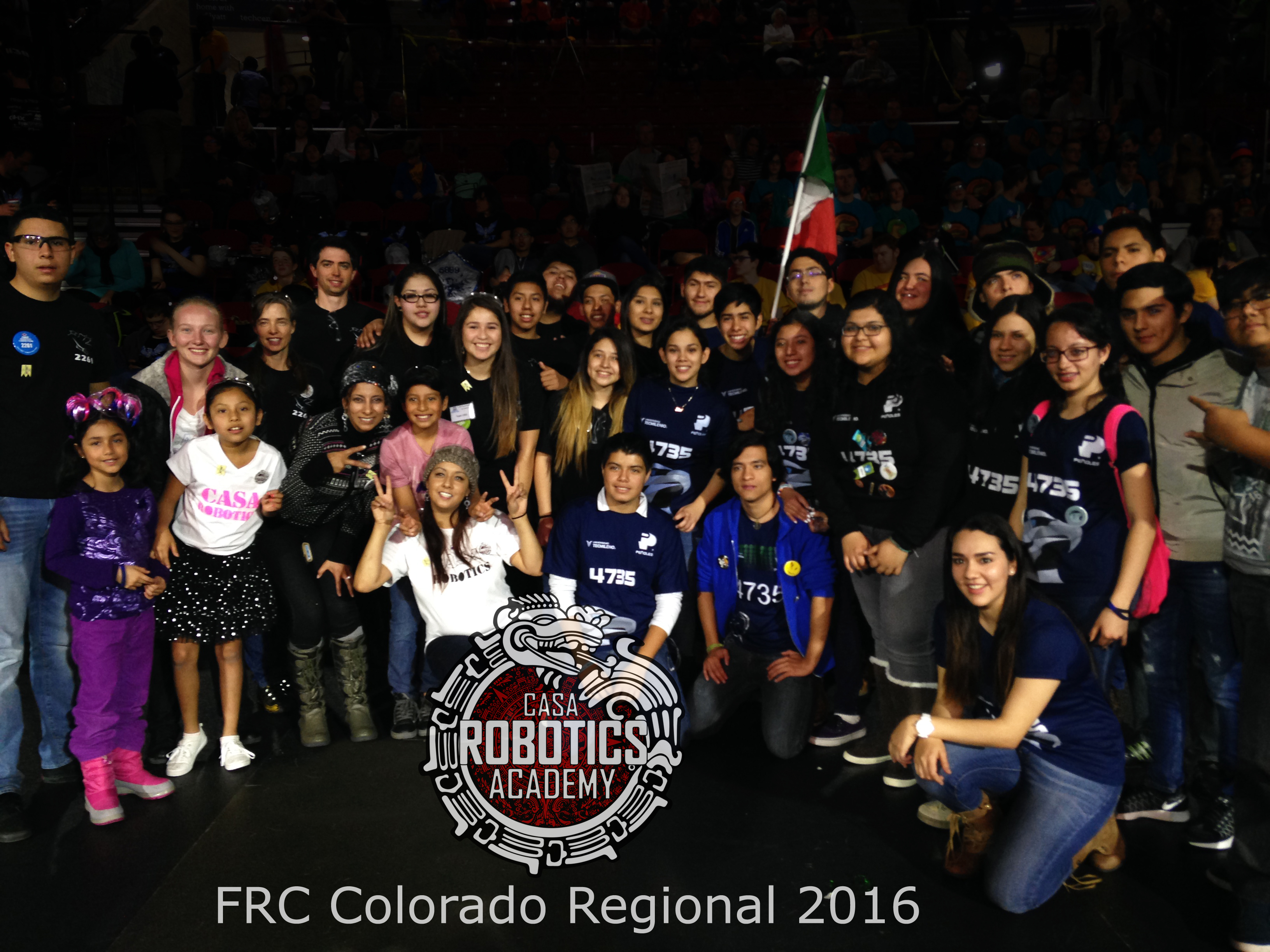 Team Casa Robotics (2261) with Team from Mexico( 4735)